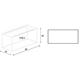 Akwarium Wromak 112L ( 80x35x40h )