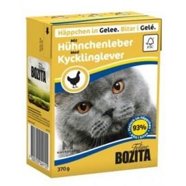 BOZITA dla kota z Wątróbką Kurczaka kawałki w galaretce kartonik 370g