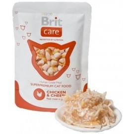 BRIT CARE CAT Pouch Chicken & Cheese 80g saszetka