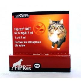 Fiprex Kot preparat przeciw pchłom i kleszczom dla kota (pipeta 1x0,7ml)