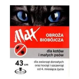 MAX obroża biobójcza dla psów małych oraz kotów (43cm)